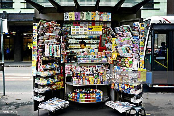A Sydney news stand 4 June 2003 SMH Picture by BRENDAN ESPOSITO