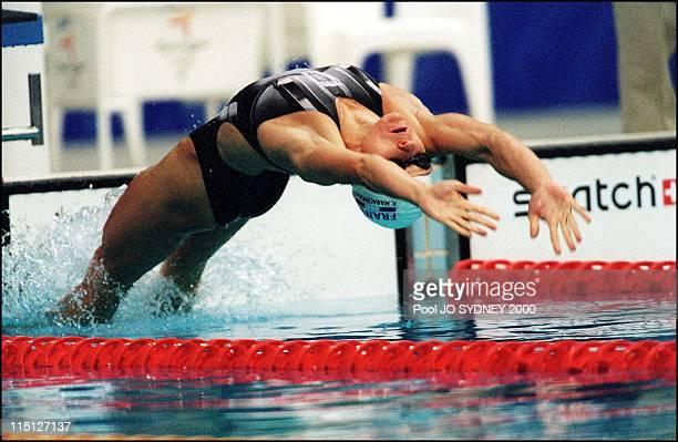 Sydney Olympic Games women's 100m backstroke semifinals in Sydney Australia on September 17 2000 Maracineanu Roxana