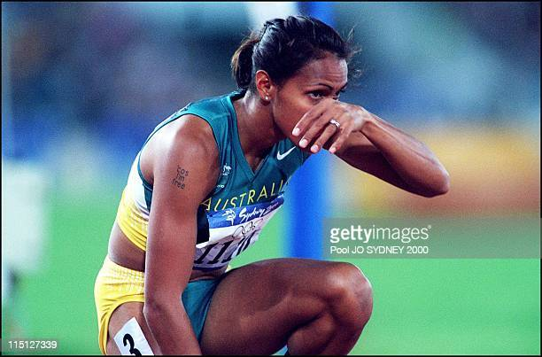 Sydney Olympic Games Women's 400m heats in Sydney Australia on September 22 2000 Cathy Freeman