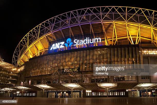 olympic park-anz stadium (coppa bledisloe 2012) - parco olimpico stabilimento sportivo foto e immagini stock