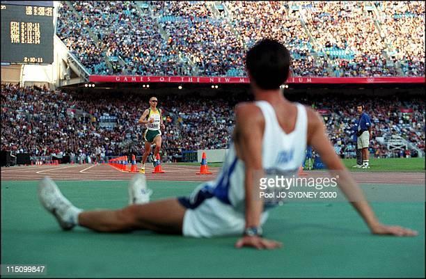 Sydney Olympics Athletics Abera Gezahgne wins men's marathon in Sydney Australia on October 01 2000