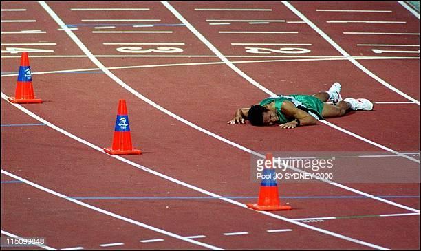 Sydney Olympics Athletics Abera Gezahgne wins men's marathon in Sydney Australia on October 01 2000 Rithya To