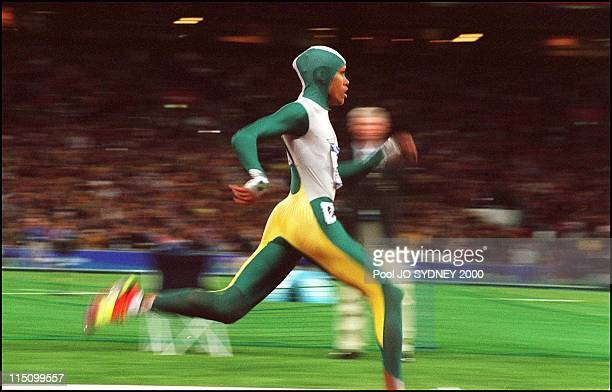 Sydney Olympics: Athletics: Cathy Freeman wins women's 400 meters final in Sydney, Australia on September 25, 2000.