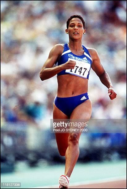 Sydney Olympics Athletics Women's 100m heats in Sydney Australia on September 22 2000 Christine Arron