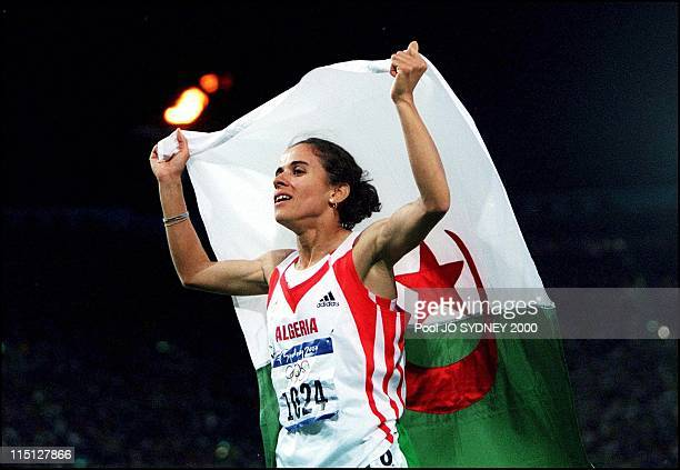 Sydney Olympics Athletics women's 1500 meters final in Sydney Australia on September 30 2000 Nouria MerahBenida wins gold medal