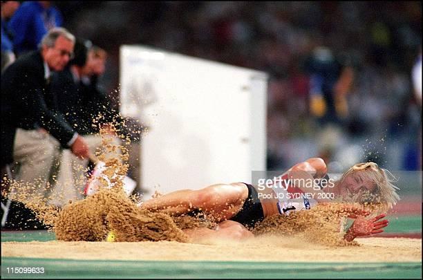 Sydney Olympics Athletics women's long jump final in Sydney Australia on September 29 2000 Heike Drechsler gold medal
