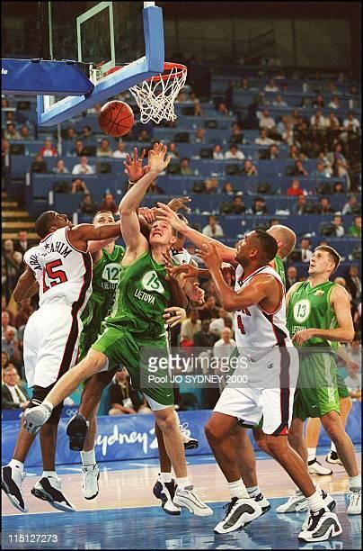 Sydney Olympics basketball USA 85 / Lituania 76 in Sydney Australia on September 21 2000 Vin Baker