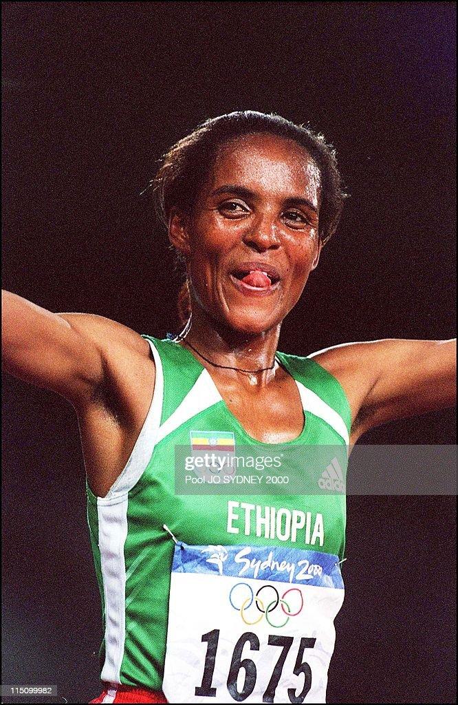 Sydney Olympics: Derartu Tulu Wins Women'S 10000 Meters Final In Sydney, Australia On September 30, 2000. : News Photo