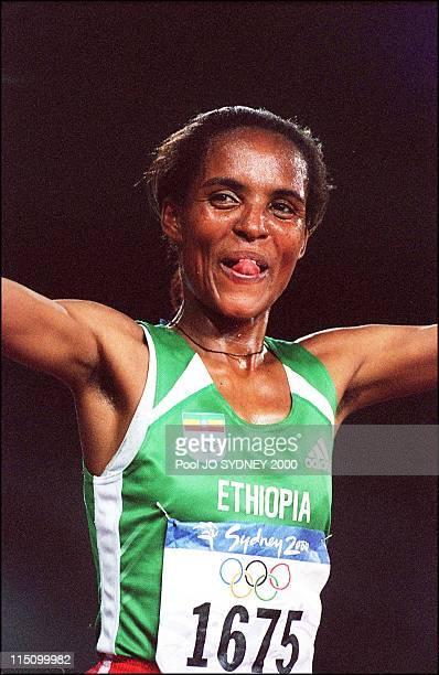 Sydney Olympics Derartu Tulu wins women's 10000 meters final in Sydney Australia on September 30 2000 Derartu Tulu