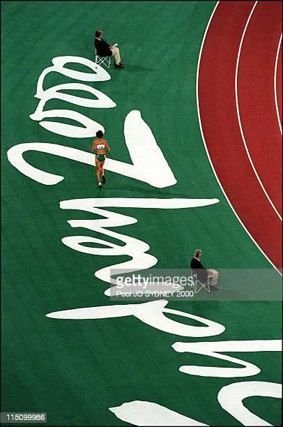 Sydney Olympics Derartu Tulu wins women's 10000 meters final in Sydney Australia on September 30 2000