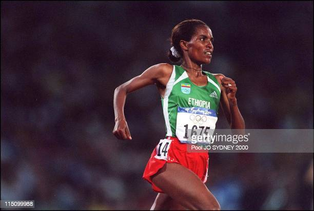 Sydney Olympics Derartu Tulu wins women's 10000 meters final in Sydney Australia on September 30 2000 Derartu Tulu gold medal
