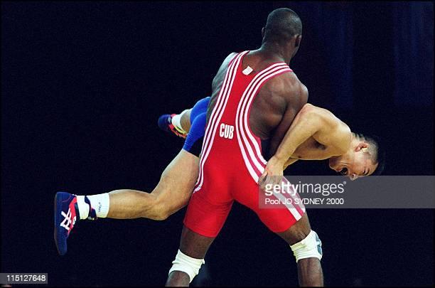 Sydney Olympics Greco roman wrestling in Sydney Australia on September 27 2000 69kg final Filiberto Azcuy gold medal Nagata Katsuhiko silver medal