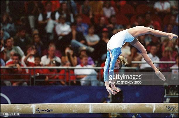 Sydney Olympics Gymnastic artistic team final in Sydney Australia on September 19 2000 Svetlana Khorkina