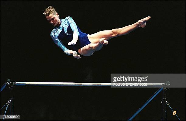 Sydney Olympics Gymnastics in Sydney Australia on September 26 2000 Uneven bars Svetlana Khorkina gold medal