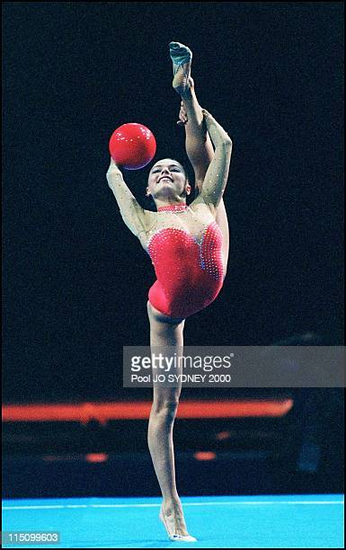 Sydney Olympics: Gymnastics in Sydney, Australia on September 26, 2000 - Rythmic gymnastic: Alina Kabaeva.