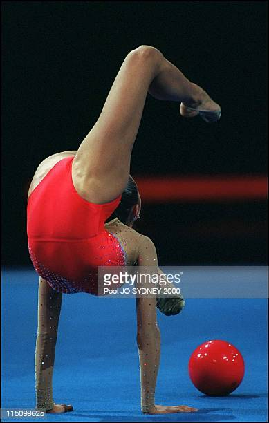 Sydney Olympics Gymnastics in Sydney Australia on September 26 2000 Rythmic gymnastic Alina Kabaeva