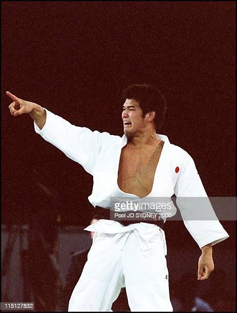 Sydney Olympics Men's 90 to 100kg final in Sydney Australia on September 21 2000 Inoue Kosei gold medal