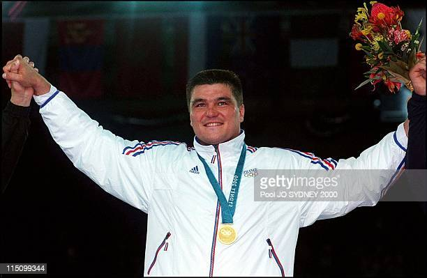 Sydney Olympics Men's judo over 100 kgs final in Sydney Australia on September 22 2000 Frenchman David Douillet wins the gold medal