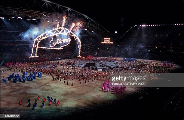 Sydney Olympics opening ceremony in Sydney Australia on September 15 2000