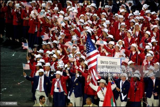 Sydney Olympics opening ceremony in Sydney Australia on September 15 2000 US delegation