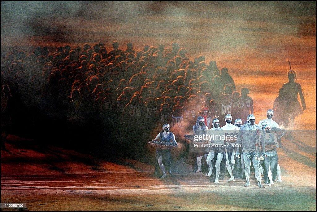 Sydney Olympics, Opening Ceremony In Sydney, Australia On September 15, 2000. : News Photo