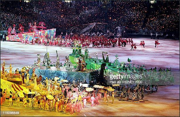 Sydney Olympics opening ceremony in Sydney Australia on September 15 2000