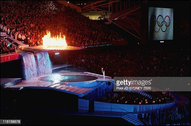 Sydney Olympics opening ceremony in Sydney Australia on September 15 2000 Cathy Freeman