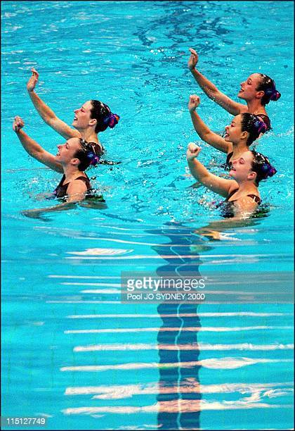 Sydney Olympics Synchronized Swimming in Sydney Australia on September 29 2000