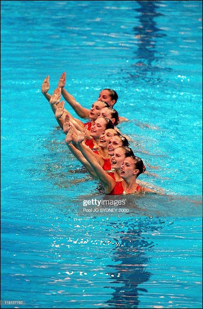 Sydney Olympics: Synchronized Swimming In Sydney, Australia On September 29, 2000. : News Photo
