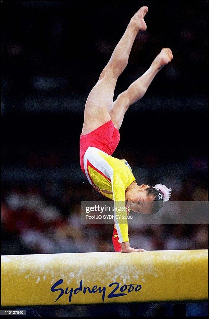Women's Gymnastics in Sydney, Australia on September 24, 2000 - Fangxiao Dong (chi), women's vault.