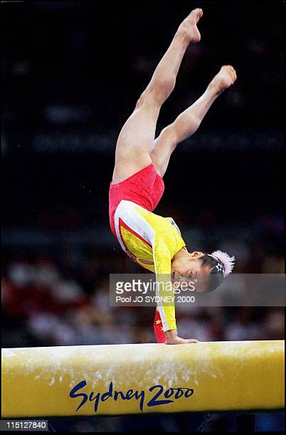 Sydney Olympics Women's Gymnastics in Sydney Australia on September 24 2000 Fangxiao Dong women's vault