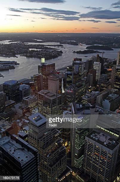 Sydney on sunset