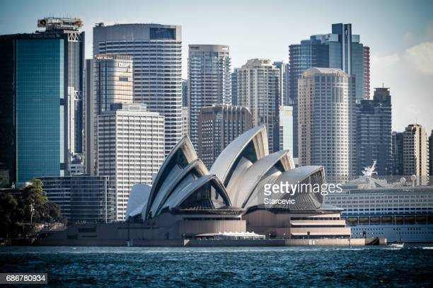 Sydney Opera House and downtown Sydney