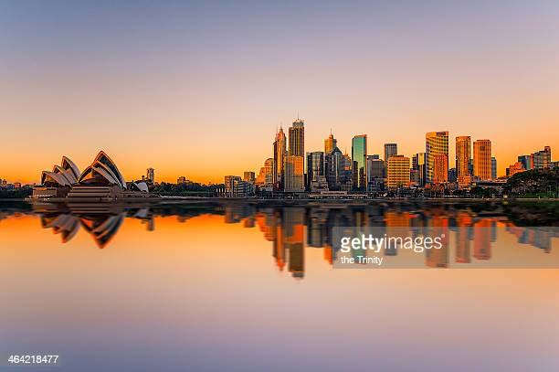 sydney opera house and skyline - sydney stock pictures, royalty-free photos & images