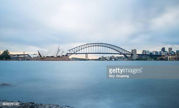 Sydney opera house and the Harbour bridge.