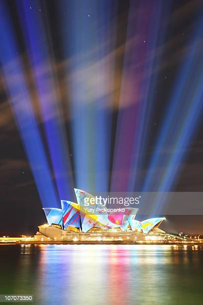 Sydney Opera House during Vivid Sydney festival 2010
