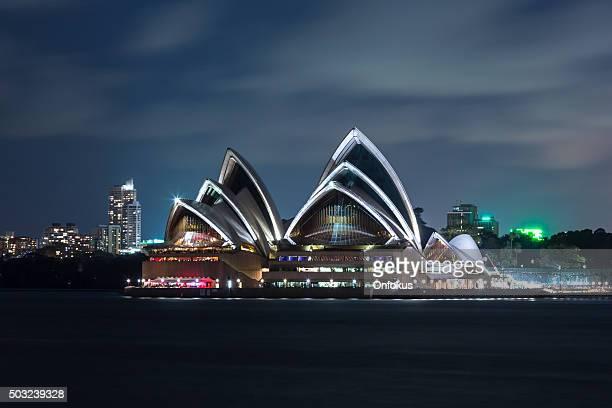 Sydney Opera House Illuminated at Night, Australia