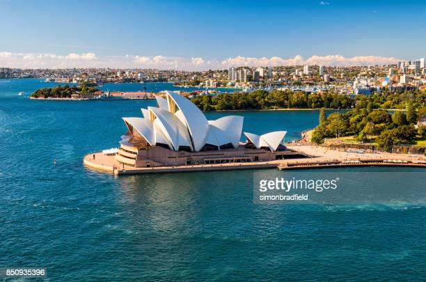 sydney opera house in the sun - sydney stock pictures, royalty-free photos & images