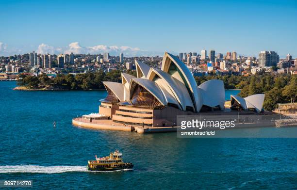 sydney opera house in the sun - sydney opera house stock pictures, royalty-free photos & images