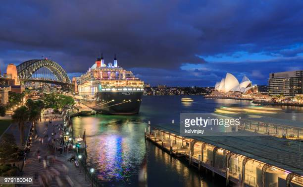 Sydney Opera House, Queen Mary 2 and Sydney Harbour Bridge, Australia
