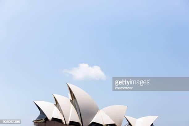Sydney Opera House taklinje The segel, bakgrund med kopia utrymme