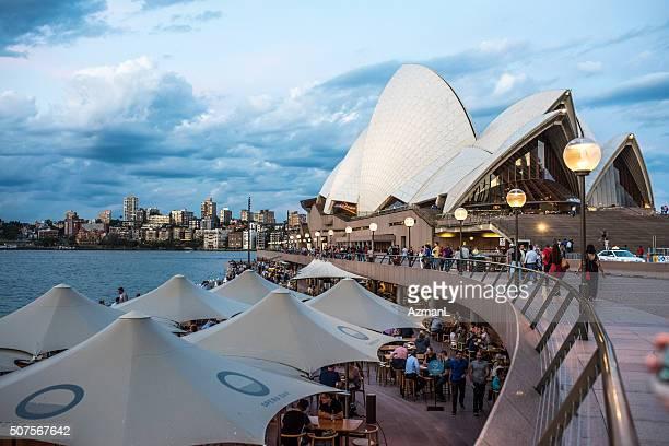 Sydney Opera House with cafes