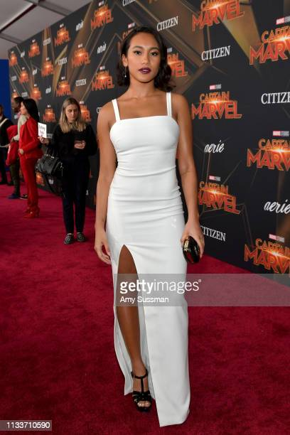 Sydney Park attends Marvel Studios Captain Marvel Premiere on March 04 2019 in Hollywood California