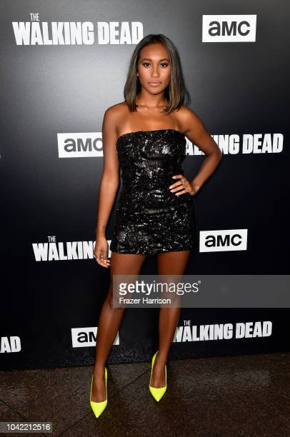Sydney Park attends the Premiere of AMC's The Walking Dead Season 9 at DGA Theater on September 27 2018 in Los Angeles California
