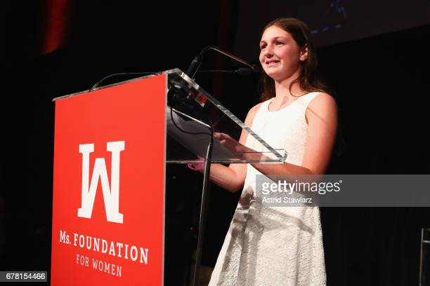 Sydney Phillips accepts an award onstage at the Ms. Foundation for Women 2017 Gloria Awards Gala & After Party at Capitale on May 3, 2017 in New York...