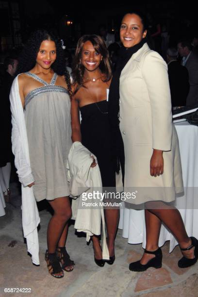 Sydney Poitier Ryan Bathe and Anika Poitier attend TISCH SCHOOL SUMMER SOIREE HOSTED BY BRETT RATNER at Private Residence on June 3 2009 in Beverly...
