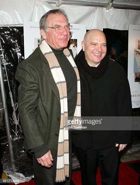 Sydney Pollack and Anthony Minghella during Breaking and Entering New York Premiere Red Carpet at Paris Theater in New York City New York United...