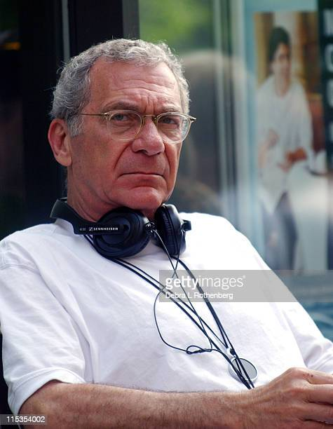 Sydney Pollack Director during On The Set of The Interpreter May 13 2004 at Streets Of New York City in New York City New York United States