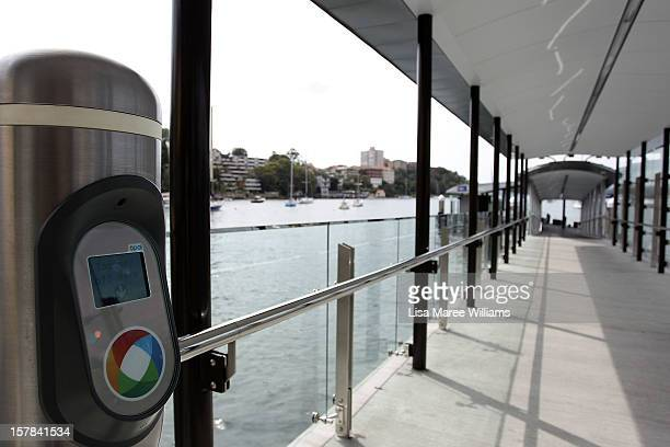 Sydney residents trial the new 'Opal' public transport card at Neutral Bay Ferry Terminal on December 7 2012 in Sydney Australia It is expected to be...