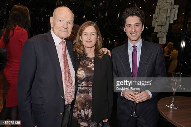 Sydney Samuelson guest and Robert Samuelson attend the Mel Brooks BFI Fellowship Dinner at The May Fair Hotel on March 20 2015 in London England